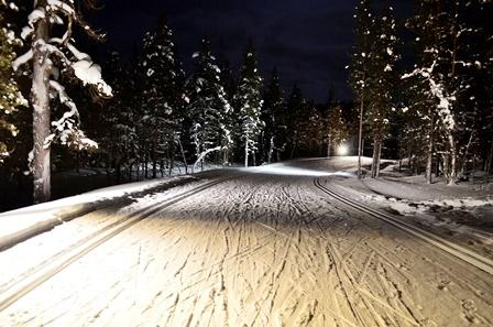ночная трасса Лапландии