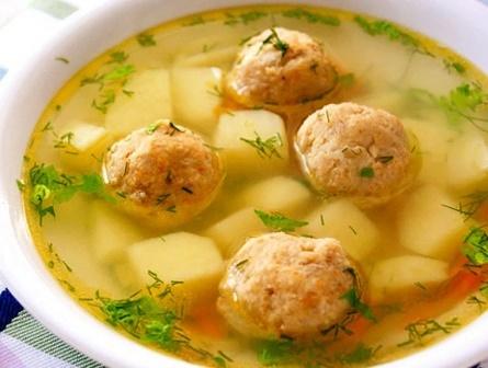Суп с рыбными фрикадельками