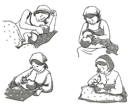 Позы для кормления ребёнка