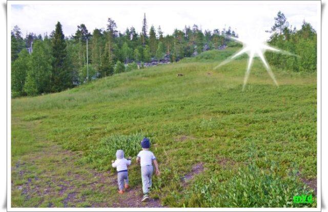 Дети на склоне