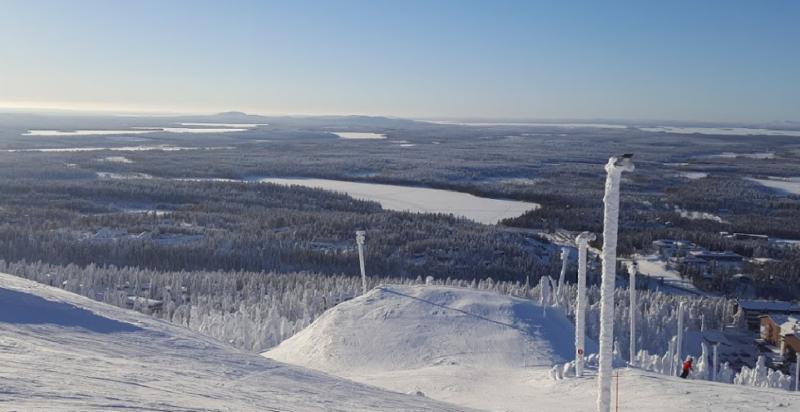 Активный отдых зимой горнолыжный курорт Вуокатти Финляндия