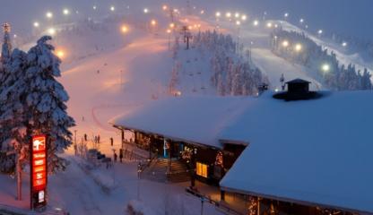 Активный зимний отдых описание горнолыжного курорта Рука Финляндия