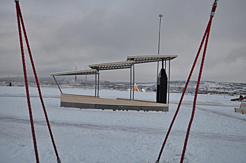 Набережная Колы фото корабль