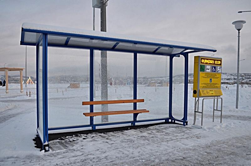 Набережная Колы фото остановка автобуса
