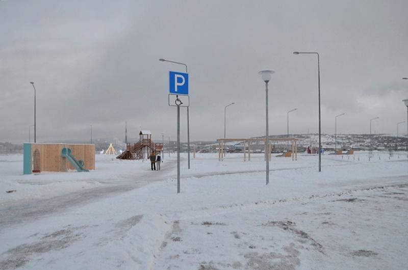 Набережная Колы фото остановка для людей с ограниченными возможностями
