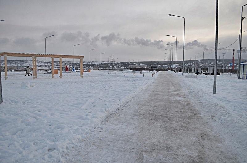 Набережная Колы фото чистые дорожки