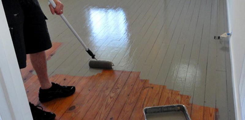 Как покрасить деревянный пол краской