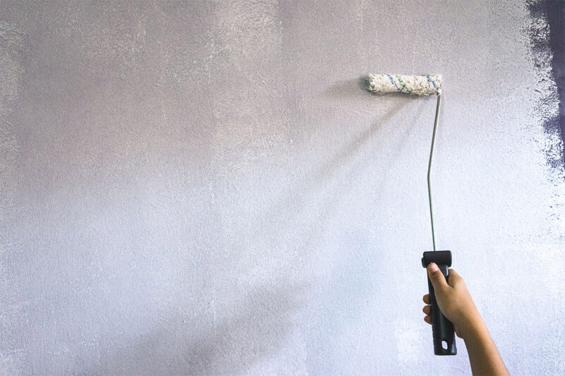 Клеевая окраска стен