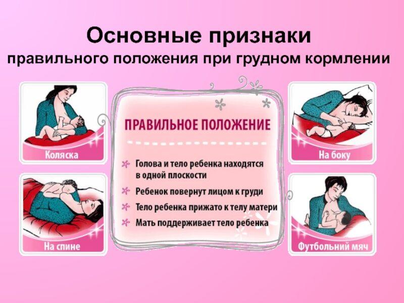 Как правильно прикладывать новорожденного ребенка к груди