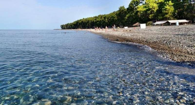 Пицунда центральный пляж и озеро Инкит