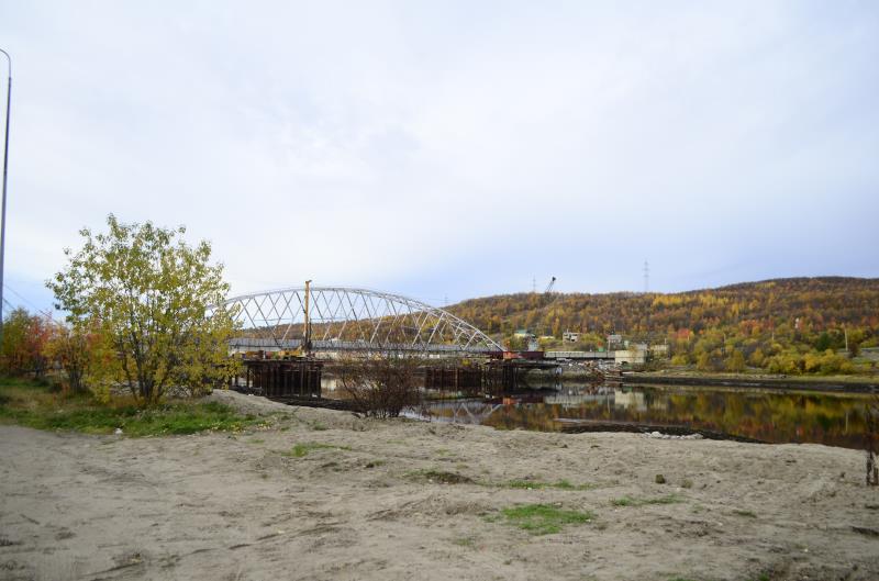 Мост через реку Тулома (объезд)